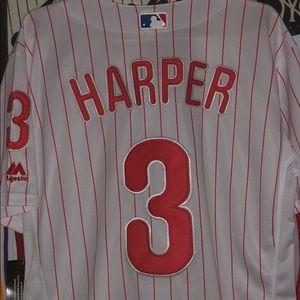 Bryce Harper never worn authentic Mlb Jersey